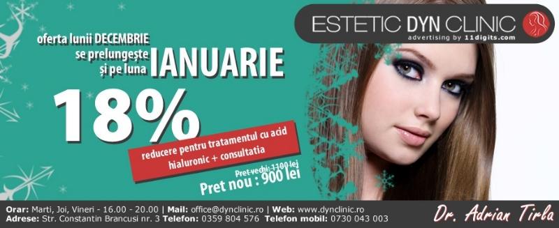 Reducere adic hialuronic + consultatie